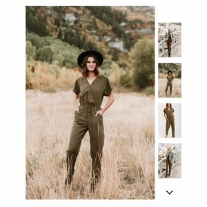NWT Olive jumpsuit by Piper and Scoot. Size large